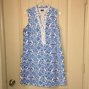 MUDPIE Blue SummerClassic Shift Dress sz M